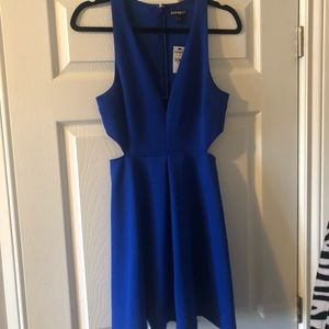 Express fit and flare dress with cutouts nwt